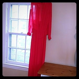 BCBG jumpsuit used red